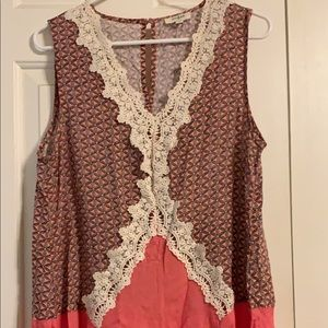 coral patterned dress
